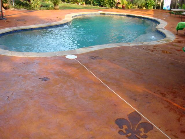 Stamped Concrete Fleur De Lis Pool New Orleans By Nu