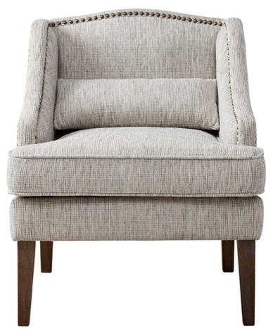 Nice Baylor Swoop Arm Accent Chair, Gray Multi