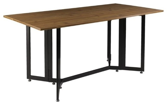 Holly Martin Driness Drop Leaf Dining Table Oak And Black Dining Tables By Homesquare