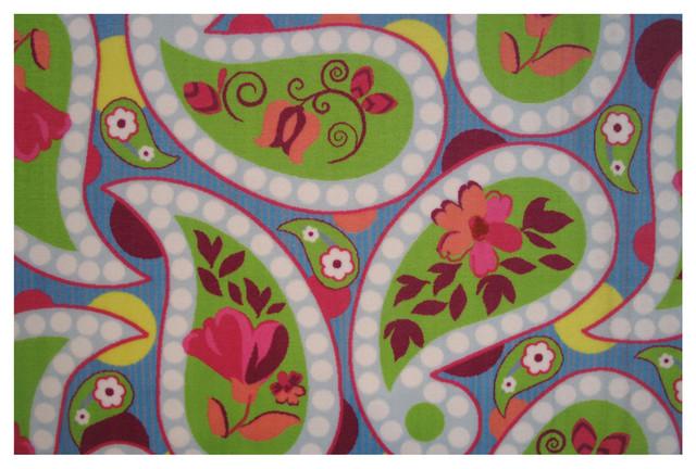 Floral Paislies Rug, Multi-Color, 39x58 by LA RUG INC.
