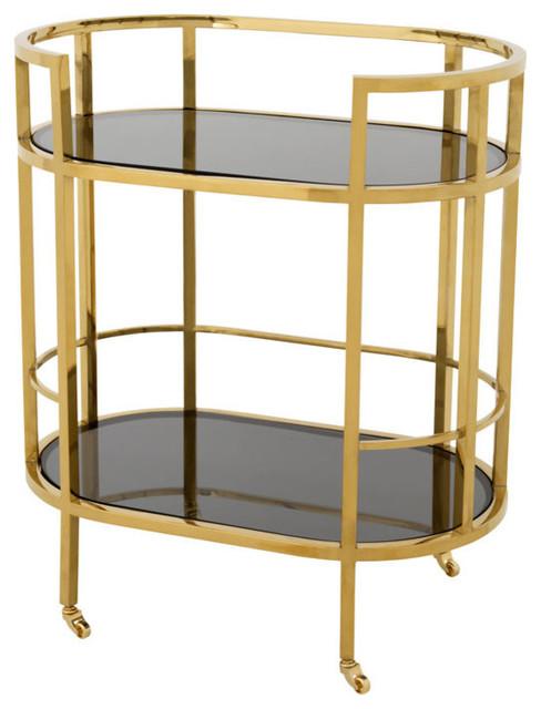 Eichholtz Townhouse Bar Cart, Gold