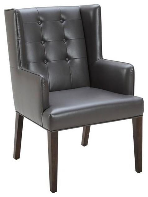 Etonnant Tufted Leather Armchair