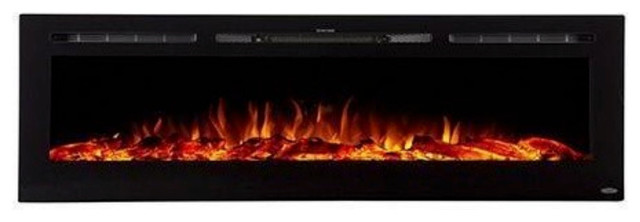 """Touchstone The Sideline 72"""" Recessed Electric Fireplace"""
