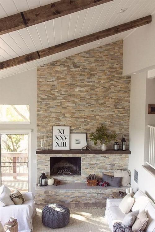 - Fireplace Stone Wall Options