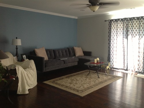 Two Tone Wall Plus Living Room Beautiful Modern Design