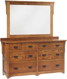 "San Juan Low Dresser With 1"" Bevel Mirror"