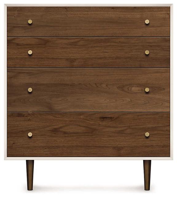 Mimo 4 Drawer Dresser By Copeland Furniture, Bronze.