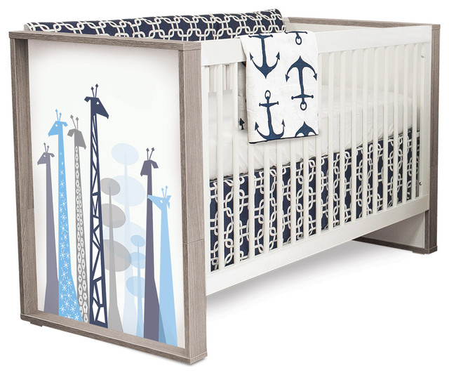 P Kolino Safari Dreams Convertible Crib Contemporary
