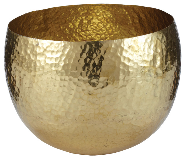 Gold Decorative Bowl Awesome Lazy Susan  Gold Hammered Brass Dish Small & Reviews  Houzz Decorating Inspiration
