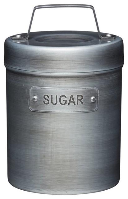 KitchenCraft Industrial Kitchen Vintage Style Metal Sugar Caddy