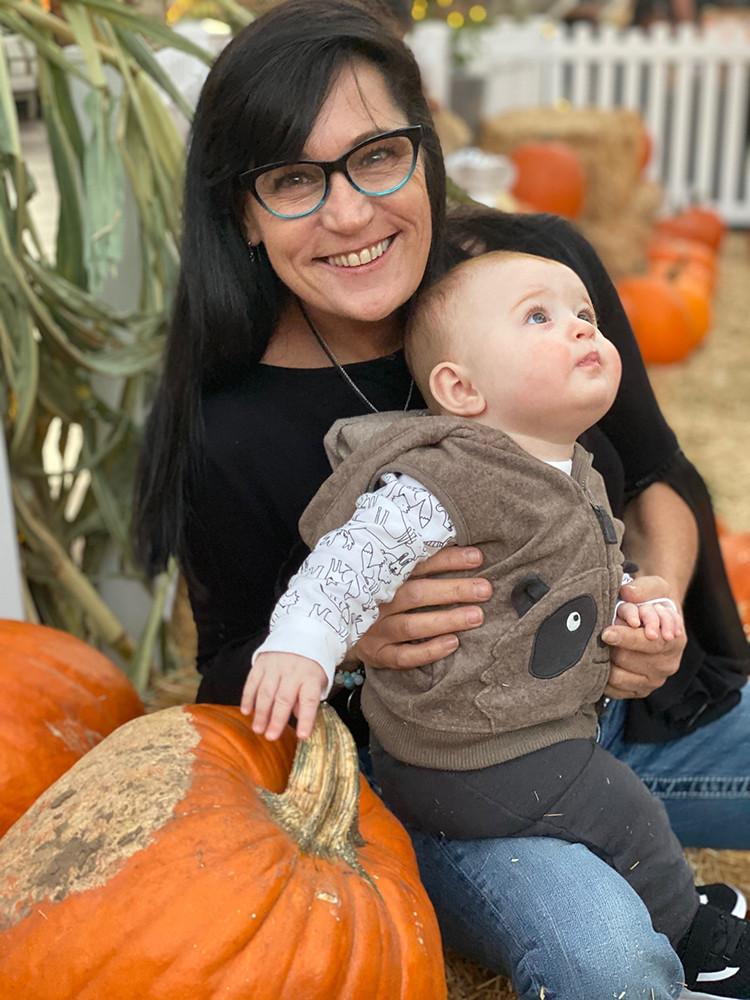 Kristen with Her Grandson