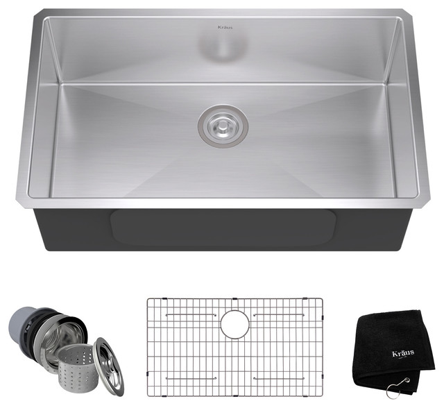 Kraus - Kraus Undermount Single Bowl 16 Gauge Stainless Steel