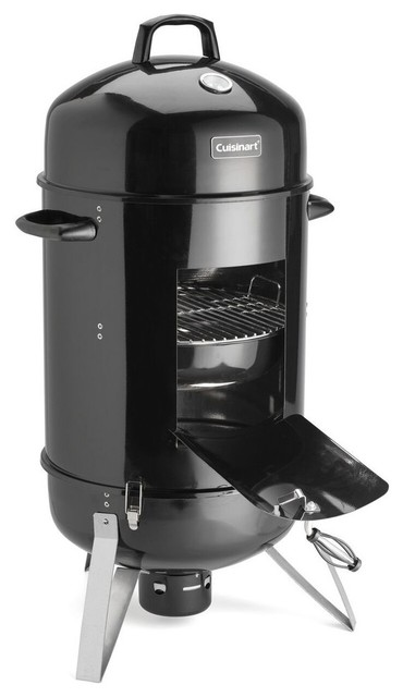 "Vertical 18"" Charcoal Smoker, Black."