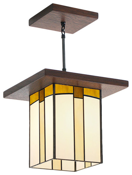 Mission Style Lantern For Hallway Entryway Over A Kitchen Island