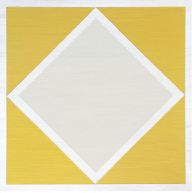 FloorAdorn Yellow Diamond Tiles, 6-Pack - Contemporary - Vinyl Flooring - by Julie's Floor Adorn