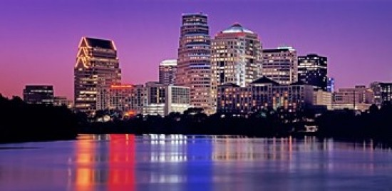 Usa Texas Austin View Of An Urban Skyline At Night Print Contemporary Prints And Posters By Posterazzi