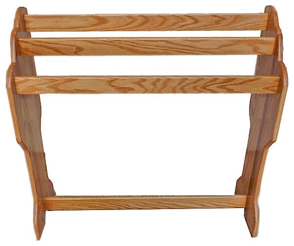 Quaker Style Solid Hardwood Amish Oak Floor Rack Handmade.