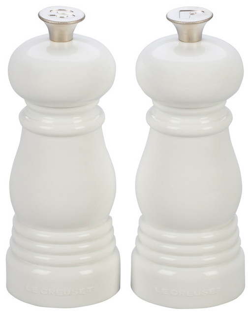 Petite Salt And Pepper Mill Set, White