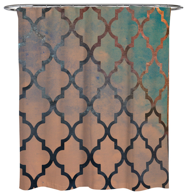 Oliver Gal Amour Arabesque Shower Curtain, 71x74 by The Oliver Gal Artist Co.