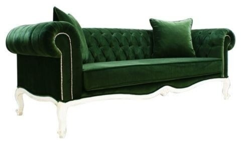 Palermo Chesterfield Sofa, Green