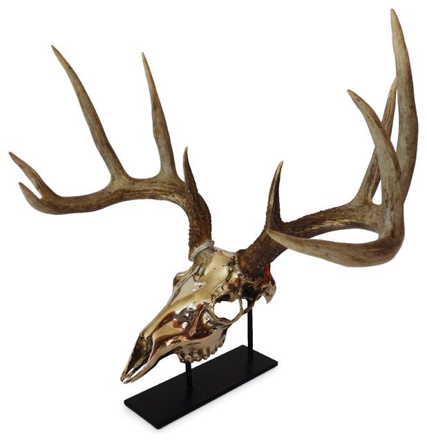 Mule Deer Bronze European Mount Southwestern