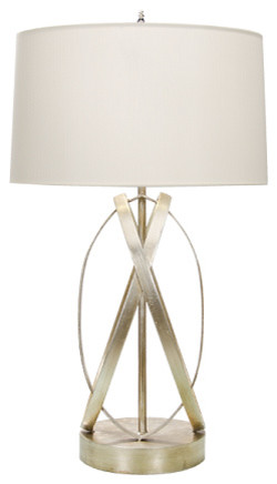 Cleo Table Lamp in Silver