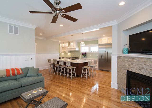 Home design - beach style home design idea in New York