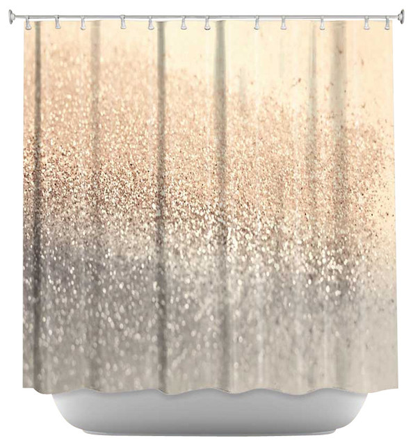 Gatsby Gold Shower Curtain Contemporary Curtains