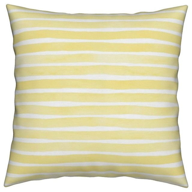 Watercolor Stripes Bright Light Yellow