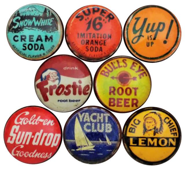 Vintage Soda Cap Cabinet Knobs, 8-Piece Set - Contemporary ...