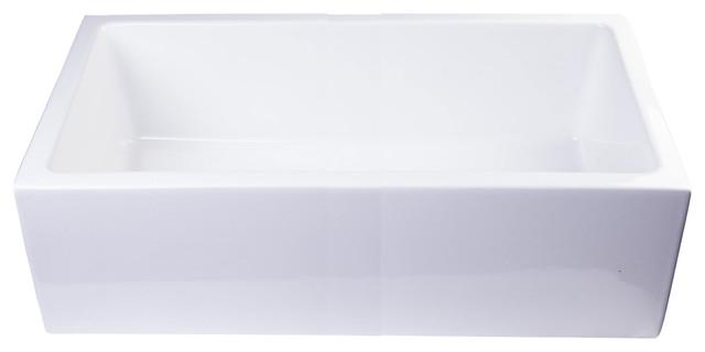 Saidie Single-Bowl Farmhouse Sink, White.