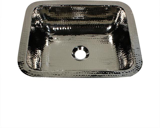 "Nantucket Sinks 17.5""x14.5"" Rectangle Undermount Bar Sink, Polished Nickel Plate."