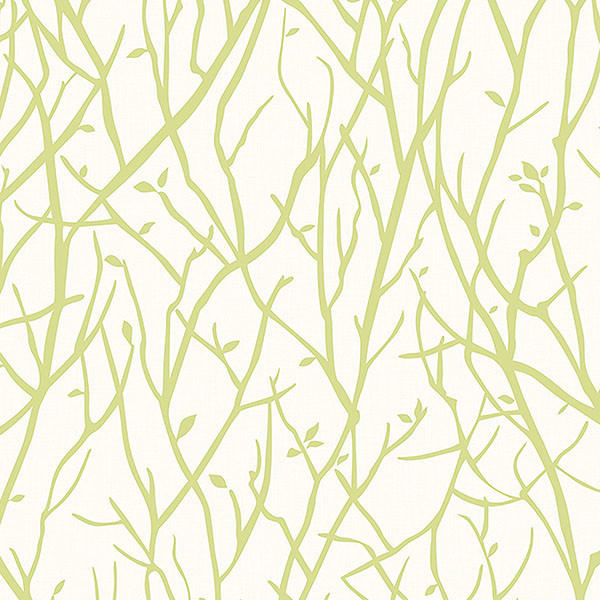 Houzz Spring Landscaping Trends Study: Kaden Lime Branches Wallpaper