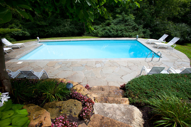 Swimming pools pool houses ideas traditional for Traditional swimming pool designs