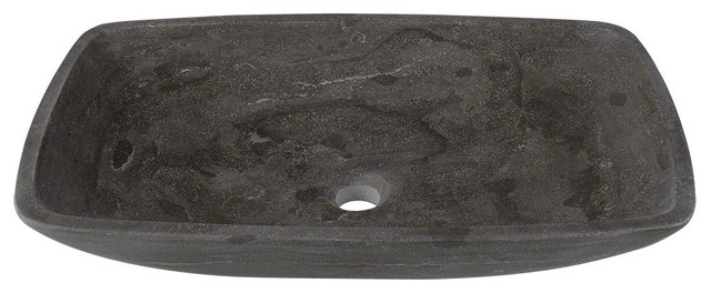 Limestone Vessel Sink, Sink Only, No Additional Accessories