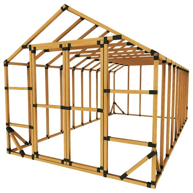 10x20 Standard Greenhouse Kit, With Floor Framing