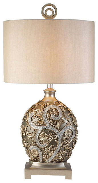Vine Table Lamp, Silver Traditional Table Lamps