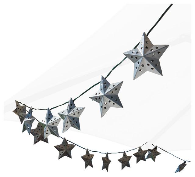 Smart Solar   Metal Star Solar String Lights   Outdoor Rope And String  Lights