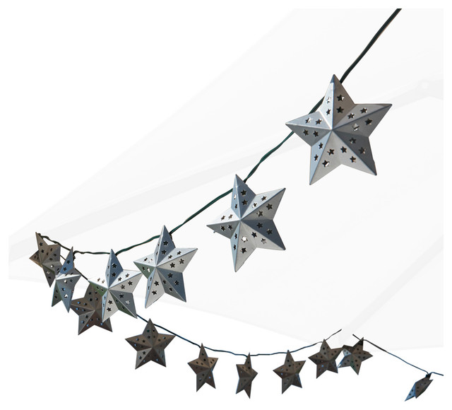 Metal Star Solar String Light Contemporary Outdoor Rope And Lights By Smart Usa