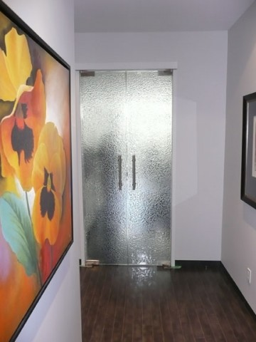 Modern Glass Front Doors on Glass Door These Doors Have A Wild Silvery Sheen To The Glass I