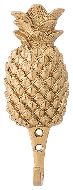 Bloomingville Gold Metal Pineapple Hook