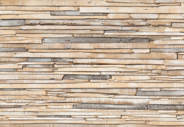 Whitewashed wood wall mural wallpaper traditional for Mural on wood