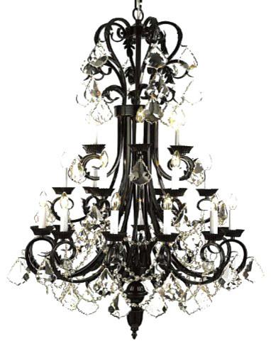 Large foyerentryway wrought iron chandelier traditional large foyerentryway wrought iron chandelier aloadofball Choice Image