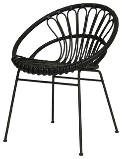 Rattan And Powder Coated Steel Kiki Dining Chair Scandinavian Garden Dining Chairs on family room lighting fixtures