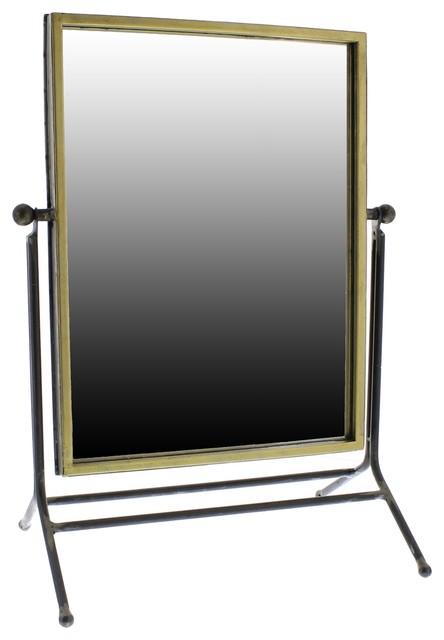 Classic Minimalist Vanity Table Mirror, Swivel Tilt Adjustable