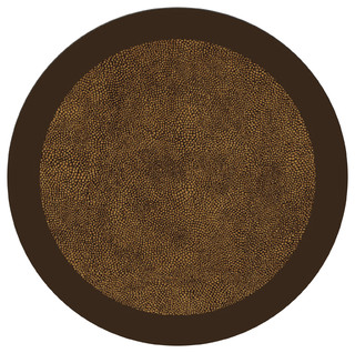 Brown And Gold Shagreen Table Mats Contemporary
