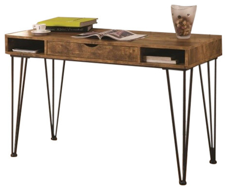 Coaster Fine Furniture - Coaster Writing Desk, Antique Nutmeg and Dark  Bronze - Desks and - Small Antique Writing Desks Houzz