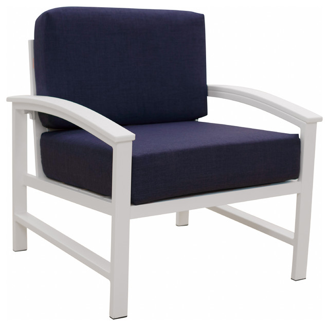 Prime Durogreen Park City Deep Seating Lounge Chair Textured White Navy Cushions Pdpeps Interior Chair Design Pdpepsorg