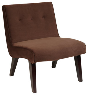 Avenue six curves valencia chair transitional for Ave six curves velvet chaise lounge