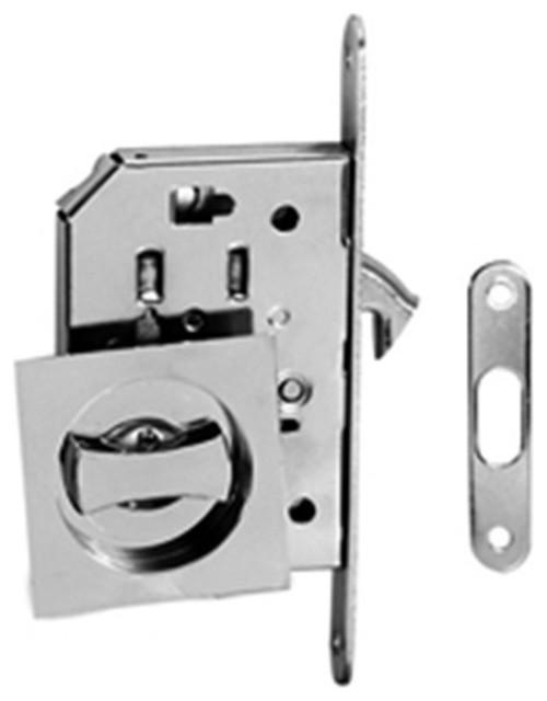Modern Door Lock Hardware contemporary modern european style square pocket door lock, bright